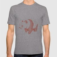 Geo Panda Mens Fitted Tee Athletic Grey SMALL