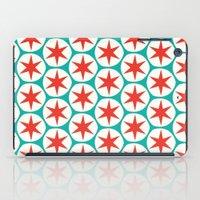 Retro Red Stars Pattern iPad Case