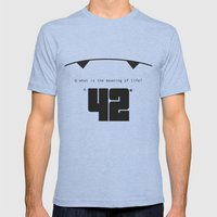 The Hitchhiker's Guide to the Galaxy Mens Fitted Tee Tri-Blue SMALL