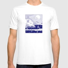 Places 2 SMALL Mens Fitted Tee White