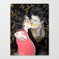 Pheromone Kiss Canvas Print