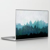 forest Laptop & iPad Skins featuring Woods Abstract  by Mareike Böhmer Graphics and Photography