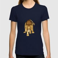 The Lioness Womens Fitted Tee Navy SMALL