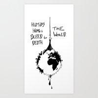 HANG THE WORLD. Art Print