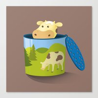 The moo box Canvas Print