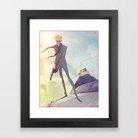 Agent Calvin And Hobbes Framed Art Print