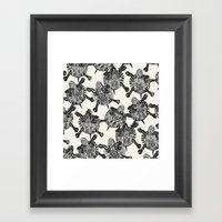 turtle party  Framed Art Print