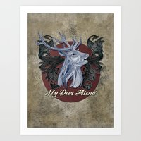 My Deer Friend / Version… Art Print