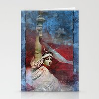 Statue Of Liberty Patrio… Stationery Cards