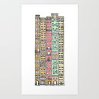 Olden Days Skyscrapers Art Print