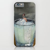 iPhone Cases featuring DRINK by Beth Hoeckel Collage & Design
