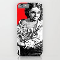 iPhone & iPod Case featuring Young Girl with Cat by Gianni Sarcone