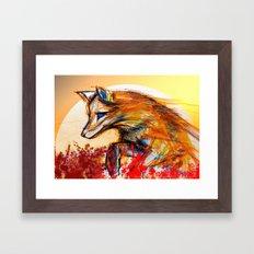 Fox in Sunset II Framed Art Print
