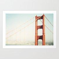san francisco Art Prints featuring San Francisco  by Bree Madden