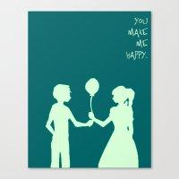 You Make Me Happy. Canvas Print