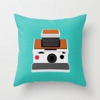 Polaroid SX-70 Land Camera Throw Pillow