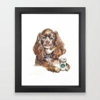 Chocolate Cocker Spaniel Framed Art Print