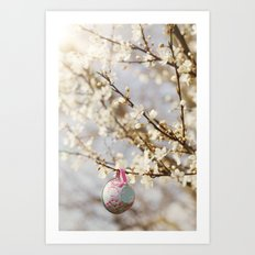 teacups in the blossom Art Print