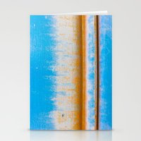 Blue, Yellow and two lines Stationery Cards