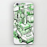 Green Machine Car iPhone & iPod Skin