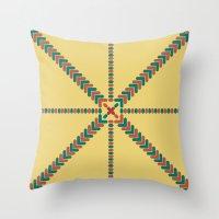X Marks the Center Throw Pillow