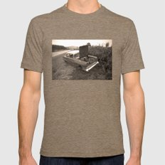 1957 Vauxhall Victor - dead cars series 102 Mens Fitted Tee Tri-Coffee SMALL