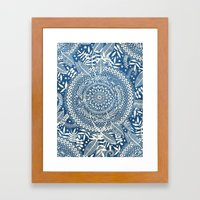 Diamond And Doodle Manda… Framed Art Print