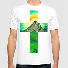 Through His Eyes SMALL White Mens Fitted Tee