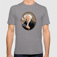Hegel is a pussy Mens Fitted Tee Tri-Grey SMALL