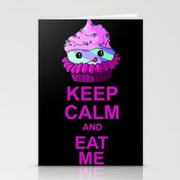 Keep Calm And Eat Me Stationery Cards