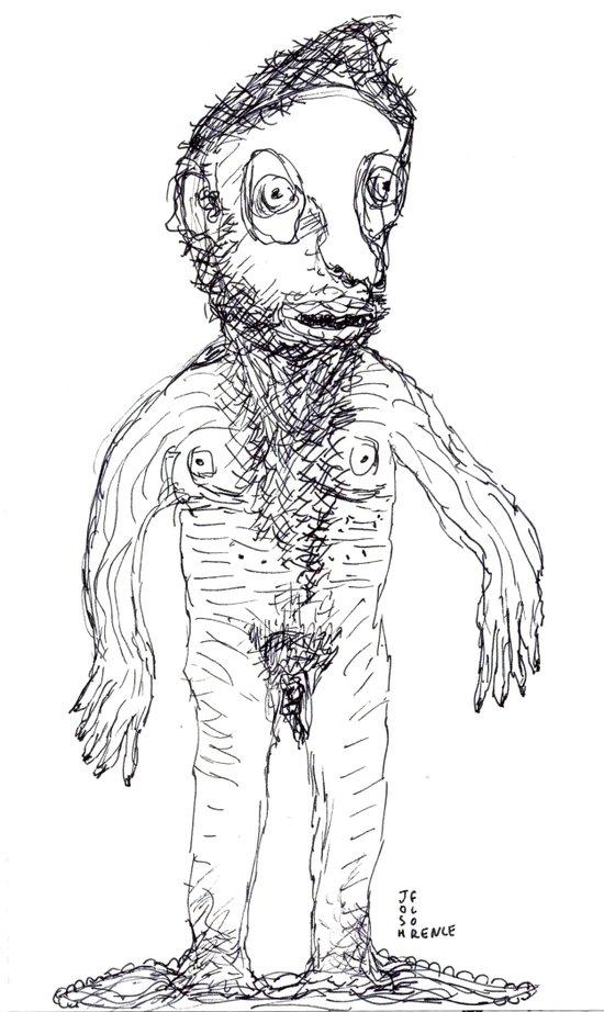 Hairy Jewish Man Who Was Born With Alligator Feet Art Print