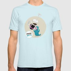 Coffee Monster Mens Fitted Tee Light Blue SMALL
