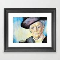 Portrait Of Maggie Smith… Framed Art Print