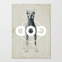 Dog God Canvas Print