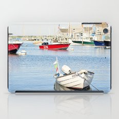 Boats Reflecting in Harbor in Nantucket iPad Case
