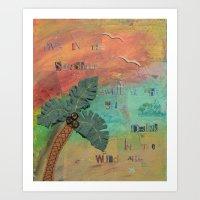 Wild Air Palm Art Print