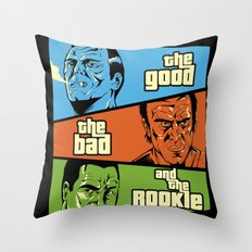 The Good, The Bad and the Rookie Throw Pillow