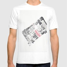 RETRO2 White Mens Fitted Tee SMALL