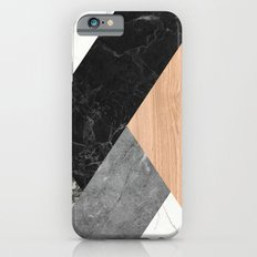 Marble and Wood Abstract Slim Case iPhone 6s