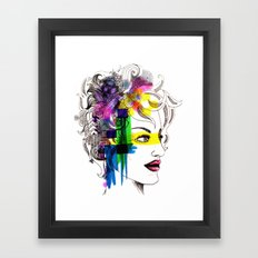 splatter in my face Framed Art Print