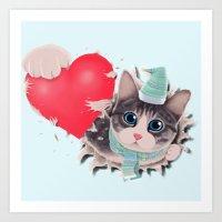 Steal Heart (light) Art Print