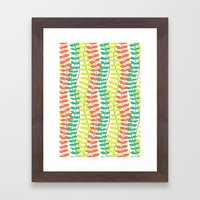 seagrass pattern - tropical Framed Art Print