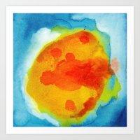 Sun Abstraction Art Print