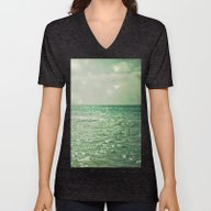 Unisex V-Neck featuring Sea Of Happiness by Olivia Joy StClaire
