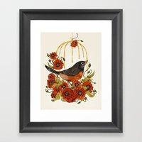 Caged Bird Sings Framed Art Print