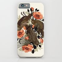 death iPhone & iPod Cases featuring Spangled & Plumed by Teagan White