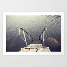 Jump, into the sea Art Print