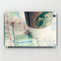 Manhattan And Starbucks iPad Case