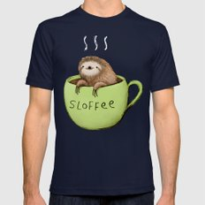 Sloffee Mens Fitted Tee Navy SMALL