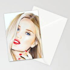 rosie huntington whiteley  Stationery Cards